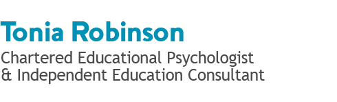 Tonia Robinson - Chartered Educational Psychologist and Independent Education Consultant